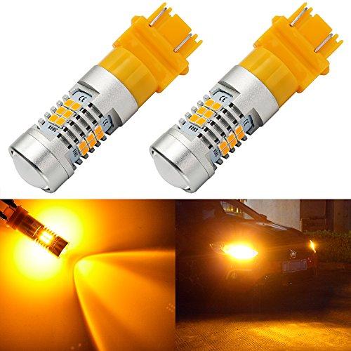 4x 3157//3156 Amber//Yellow High Power LED Turn Signal Sider Marker Light Bulbs